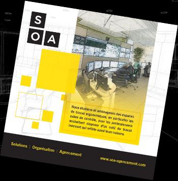 soa agencement bureau etudes brochuresalle de controle salle de supervision par SOA Agencement bureau d'études pour CSU, entreprises et industriels.